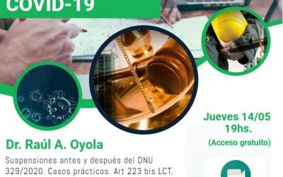 VIDEOCONFERENCIA – SUSPENSIONES POR FUERZA MAYOR ANTE EL COVID-19.