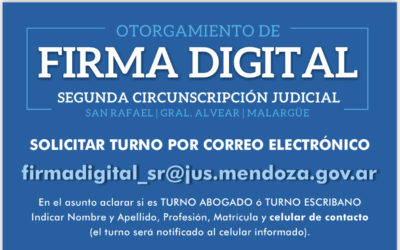 OTORGAMIENTO DE FIRMA DIGITAL SEGUNDA CIRCUNSCRIPCIÓN JUDICIAL.-