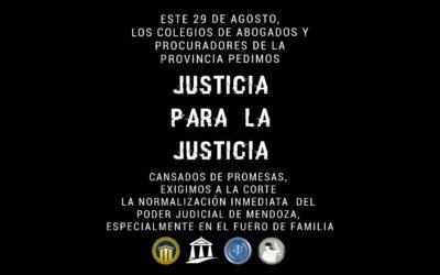 NOTA REMITIDA AL SUBSECRETARIO DE JUSTICIA DE MENDOZA   SE RESTABLEZCA EN FORMA URGENTE EL NORMAL Y EFECTIVO FUNCIONAMIENTO DEL SERVICIO DE JUSTICIA